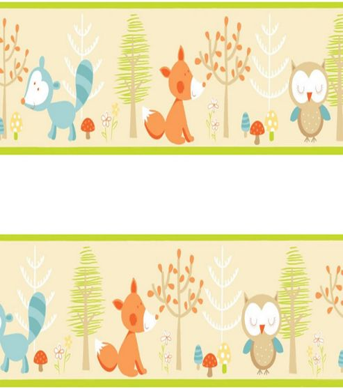 Forest Friends Self Adhesive Wallpaper Border