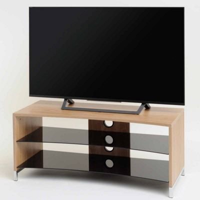 TNW Paris Curved Oak TV Stand for up to 50 inch TVs