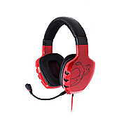 OZONE Rage ST Advanced Stereo Gaming Headset, Red (OZRAGESTR).