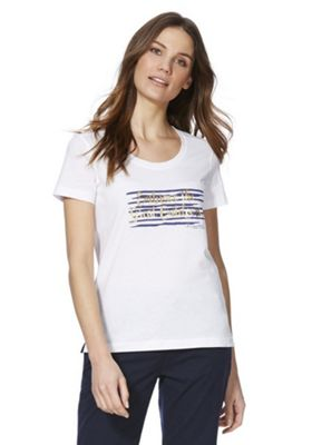 Regatta Filandra II Slogan T-Shirt White 14