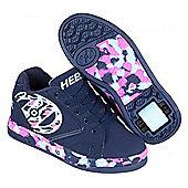 Heelys Dual Up White/Black/Multi Comic Kids Heely X2 Shoe - Blue