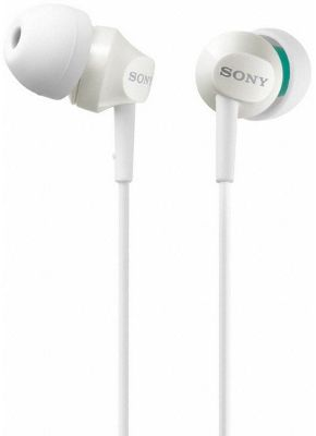 Sony MDREX50LPW Mid-range In-Ear Headphones With Deep Base - White