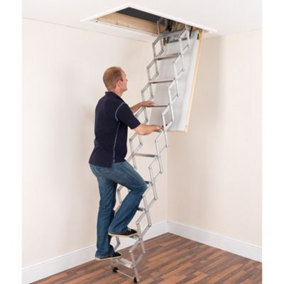 Alufix 2.7m Concertina Loft Ladder