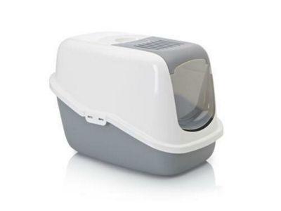 Savic Nestor Cat Toilet Home White/Grey 56x39x38.5