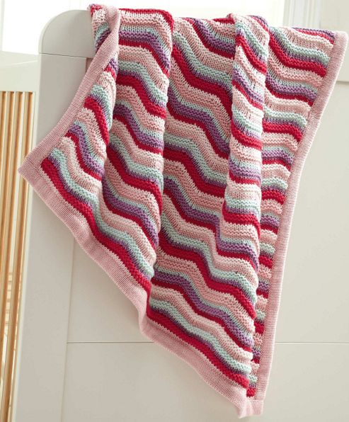 Mamas & Papas - Made With Love Girls - Knitted Blanket