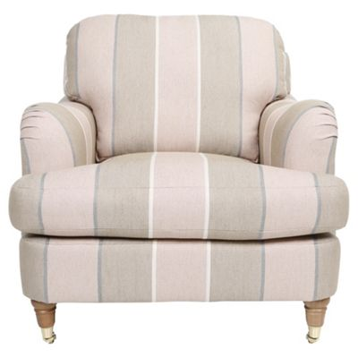 buy florence armchair linen effect stripe rose from our armchairs