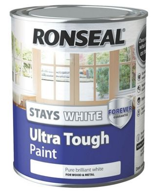 Ronseal Stays White Ultra Tough Paint - Gloss - 750ml