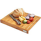 VonShef 100% Bamboo Wooden Chopping Board with Counter Edge