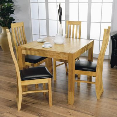 Furniture Link Eve 4 Chair Dining Room Set with Square Dining Table