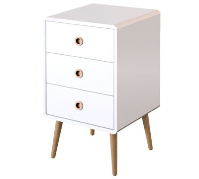 Steens Mode 3 Drawer Chest Off-White