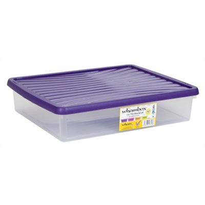 Wham 7.01 14.75L WhamBox & Lid Clear/Violet - Pack of 6