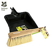 Charles Bentley National Trust Large Plastic Dustpan With Soft Natural Hand Brush Set