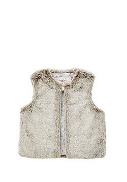 F&F Faux Fur Gilet - Grey