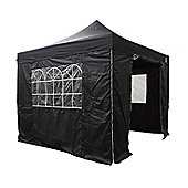 All Seasons Gazebos, Heavy Duty, Fully Waterproof, 3m x 3m Standard Pop up Gazebo Package in Black