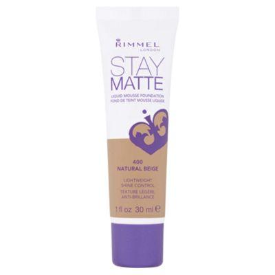 Rimmel Stay Matte Foundation Natural Beige