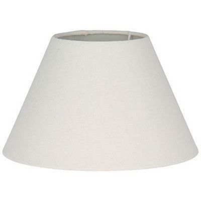 Classic Style 40cm Lamp Shade Cream Linen Effect Cylinder