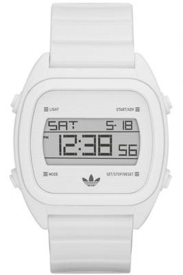 Adidas Gents Digital Sydney Alarm Chronograph White Rubber Strap Watch ADH2727