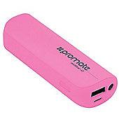 Promate aidBar-2 Power Bank Pocket Sized 2500mAh Back-up Battery (Pink)