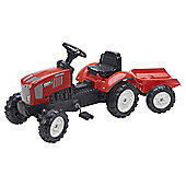 Falk Pedal Tractor with Big Wheels Trailer