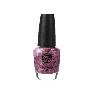 W7 Glitter Nail Polish -72 Cosmic Mauve