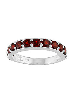 Gemondo Sterling Silver 1.40ct Thai Garnet Half Eternity Style Ring