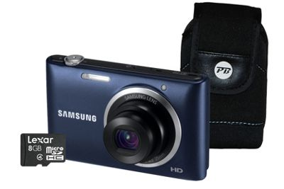 Samsung ST72 Black Camera Kit inc 8GB Micro Card, Full Size SD Adaptor and Case
