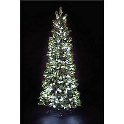7ft Pre Lit Pop Up Pine Tree With 300 C6 Warm White Leds