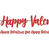 Happy Valentines Day Glitter Letter Banner - 3m