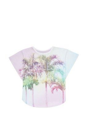 F&F Tropical Kimono Sleeve T-Shirt Multi 5-6 years