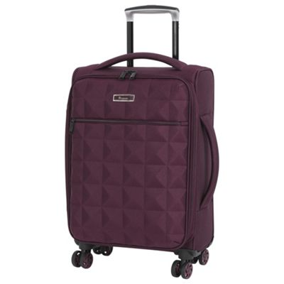 it luggage Megalite Quilted Cabin 8 wheel Chocolate Truffle Suitcase