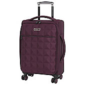 IT Luggage Megalite Quilted 8-Wheel Chocolate Truffle Cabin Case
