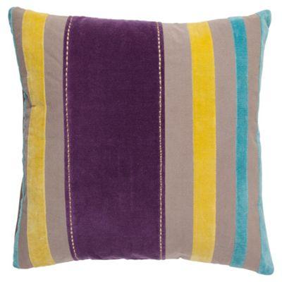 F&F Home Stitched Stripe Cushion, Grape