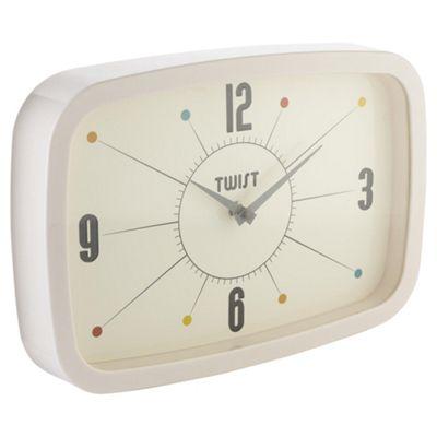 Tesco Twist Retro Clock