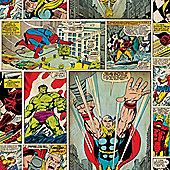 Marvel Avengers Comic Strip Wallpaper