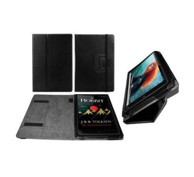 MiTAB Black Faux Leather Case Cover With Stand For The Nook HD + Plus 9 Inch