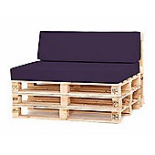 Water Resistant Pallet Small Back Cushion -Purple