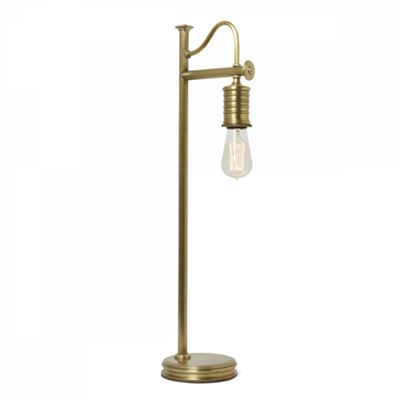 Aged Brass Table Lamp - 1 x 60W E27