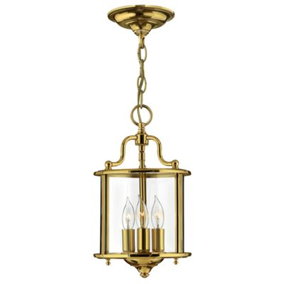 Polished Brass Small Pendant - 3 x 60W E14