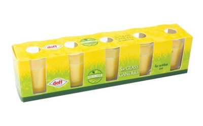Doff Citronella Flying Insects Deterrent Candle - Pack of 5