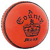 Readers County Crown Cricket Ball - Orange - Mens 5 1/2 oz