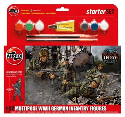 Airfix Multipose WWII German Infantry Figures (1:32)