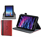 Navitech - Red Faux Leather Case Cover With 360 Rotational Stand For The Samsung Galaxy Tab A 10.1 / A 9.7 / S2 9.7 / TAB 4 10.1 / TAB A 2016