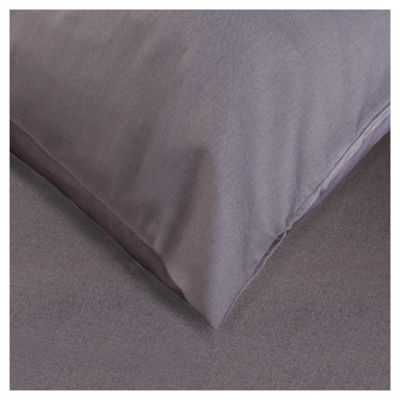 Tesco twin pk pillowcase - Charcoal Quartz (Deep)