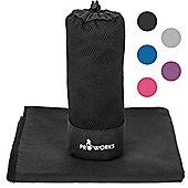 ProWorks Extra Large Black Microfibre Towel