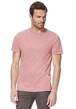F&F Marl Crew Neck T-Shirt - Pink marl