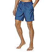 F&F Geo Print Mid Length Swim Shorts - Blue