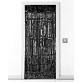 Black Metallic Door Curtain - 2.4m