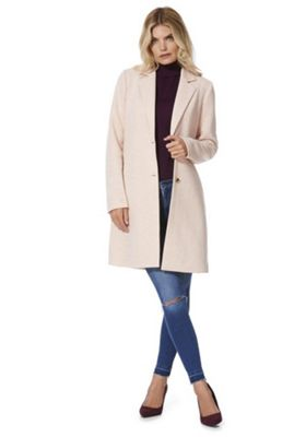 Only Single Breasted Overcoat Pink L