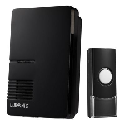 Duronic HDB16B Black Advanced 200m Wireless Door Bell with 36 Melodies