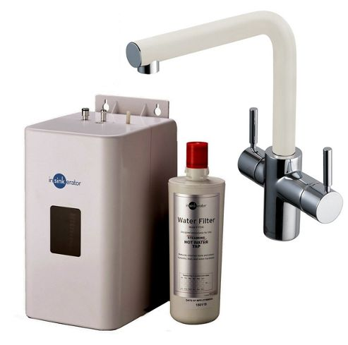 Insinkerator 3N1 Instant Hot Tap | 3in1 Mains Hot & Cold with Instant Hot Tap in White Complete with Tank